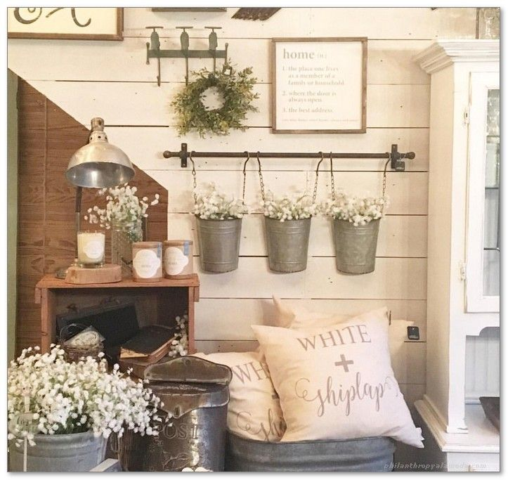 19++ Country farmhouse living room wall decor ideas in 2021
