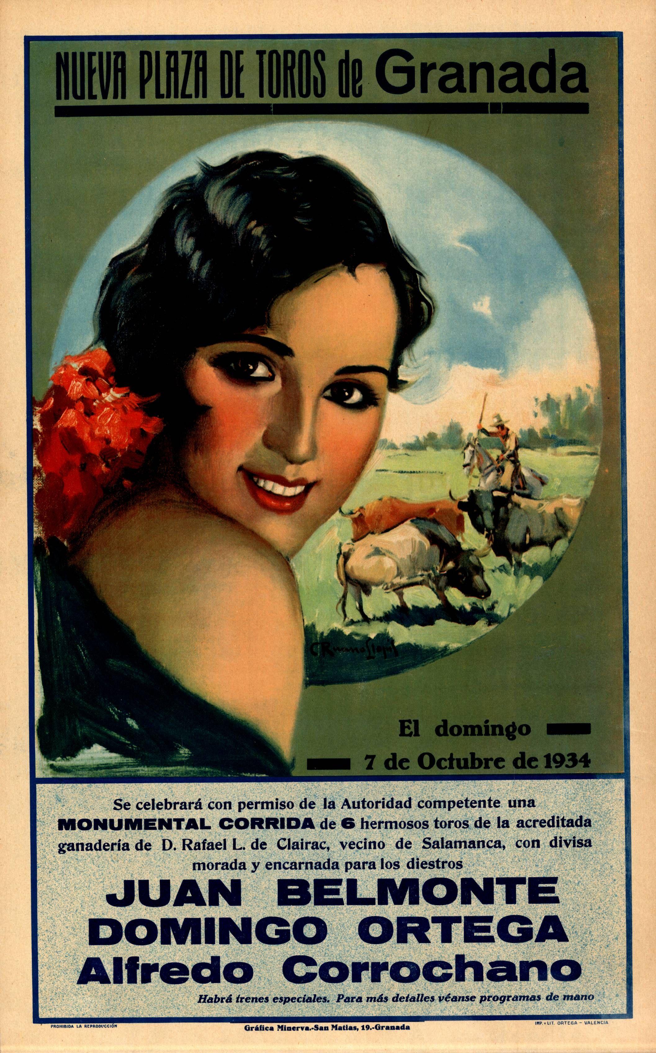 Nueva plaza de toros de Granada  Octubre de 1934  Ruano