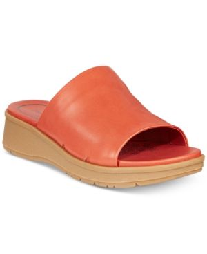 6558e1ad6a3 Baretraps Rebecca Slip-On Wedge Sandals - Orange 7M