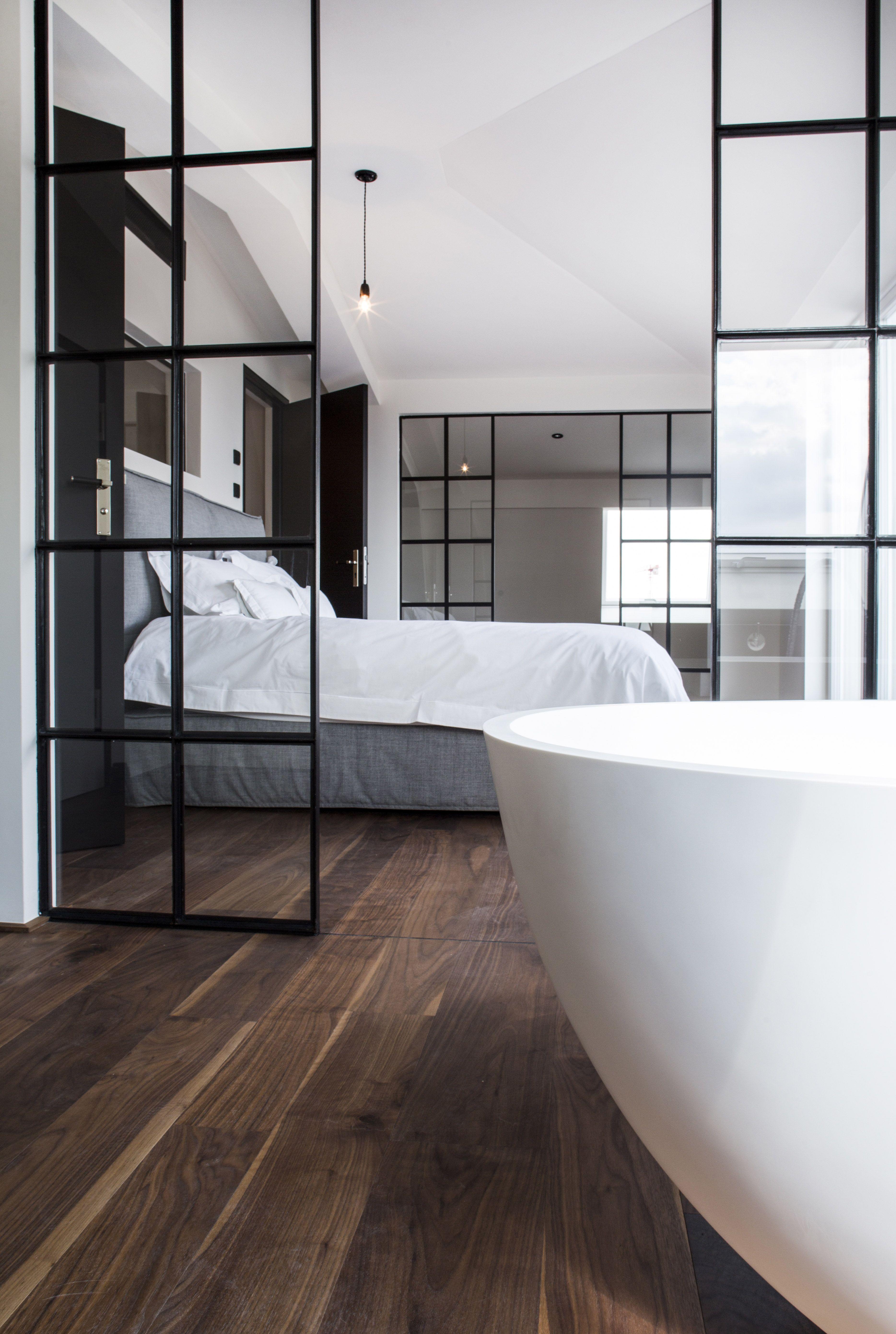 Design Loft mit Ensuite Schlafzimmer über den Dächern von Berlin mit ...