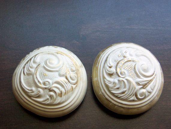 2 vintage decorative door knob handle covers by novelty trim ny 1964 - Decorative Door Knobs