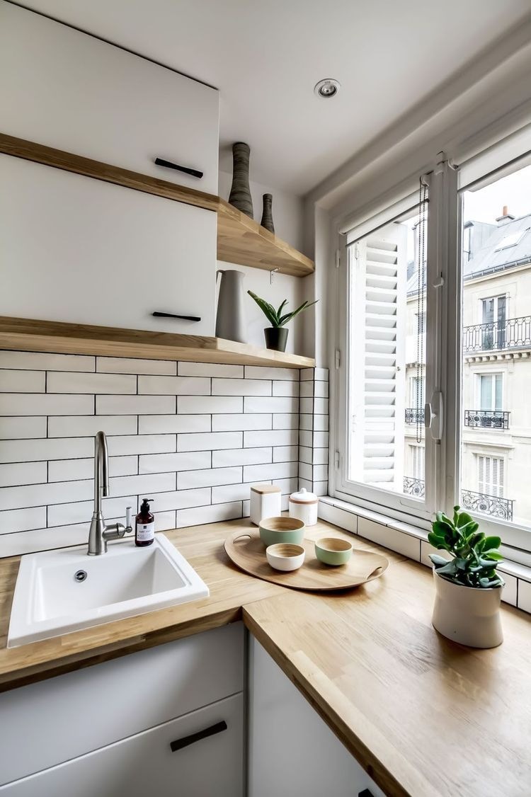 Offene Küche Kleine Wohnung Perfect Small Apartment In Paris Daily Dream Decor Haus