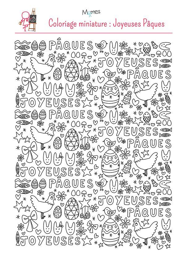 Coloriages De Paques Pour Les Enfants Coloriage Paques Coloriage Coloriage De Paques A Imprimer