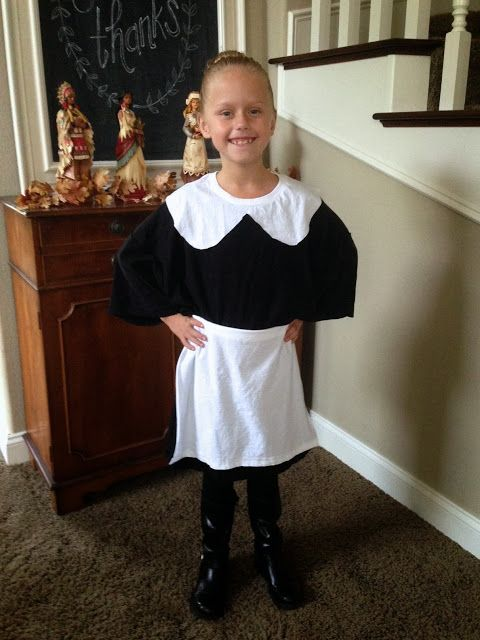 Right At Home Last Minute 1 Minute No Sew Pilgrim Costume
