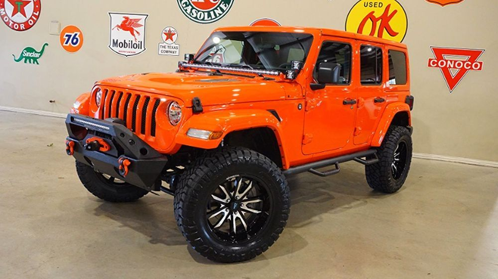 Ebay Jeep Wrangler Jl Unlimited Sport 4x4 Custom Lifted Htd Lth
