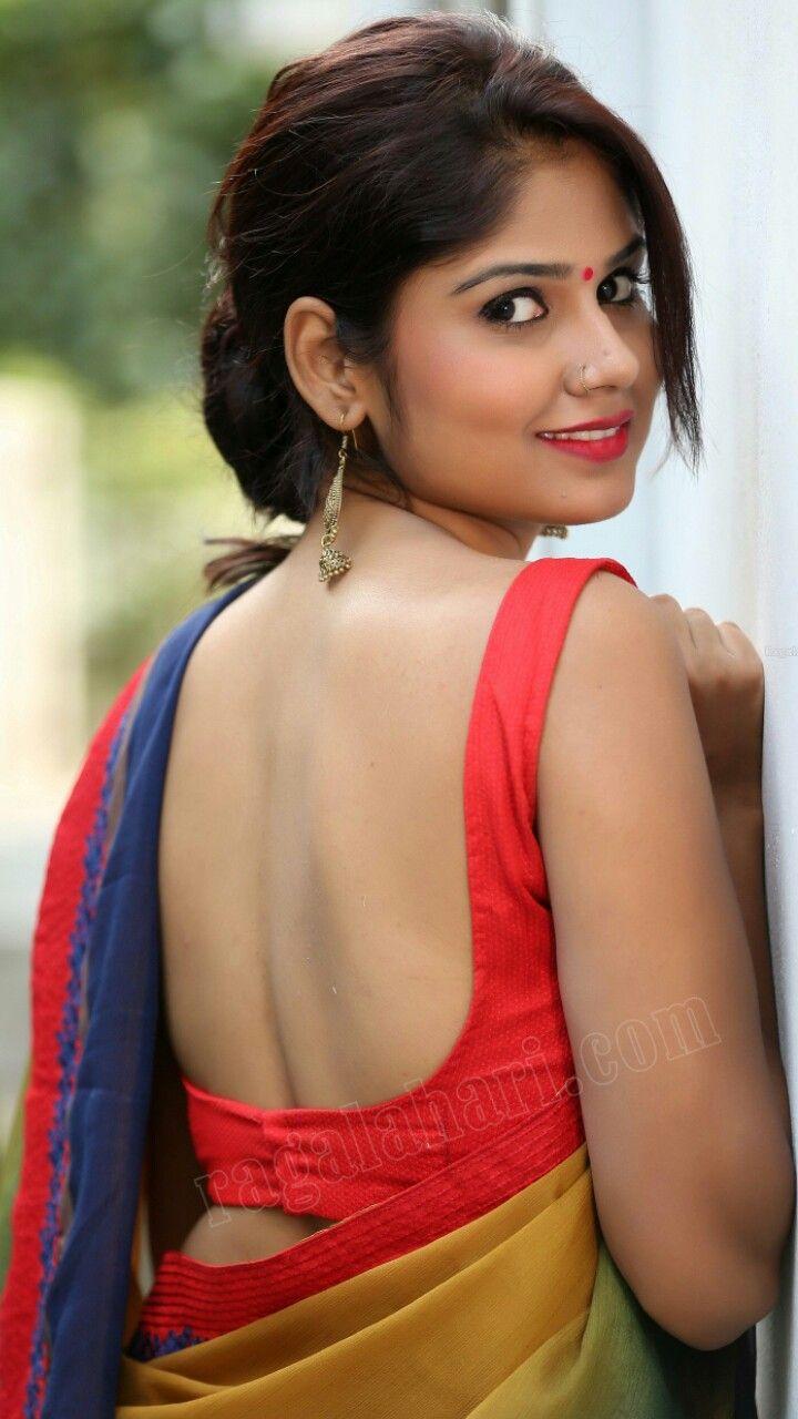 Back Look Model Indian Designer Wear Indian Beauty Backless Saree Blouse Designs