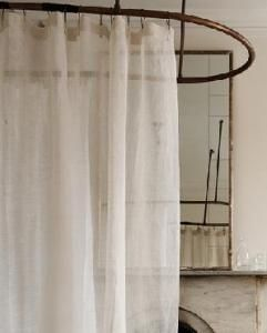 Eileen Fisher Sheer Linen Shower Curtain Cloth Shower Curtain