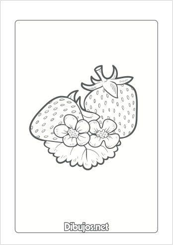 10 Dibujos De Frutas Para Imprimir Y Colorear Dibujos Net Dibujos De Frutas Frutas Dibujos