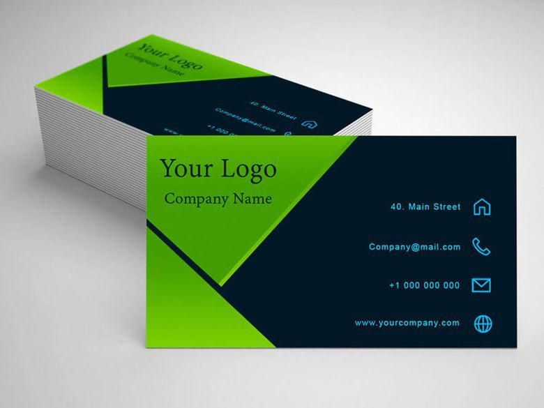 Dark Green Business Visiting Card Visiting Cards Business Card Design Green Business