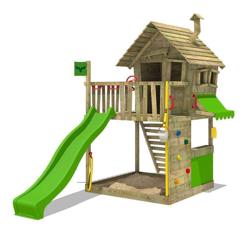 FATMOOSE Spielturm GroovyGarden Combo XXL Stelzenhaus   Wooden climbing frame, Play houses ...