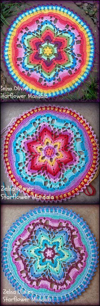 60+ Free Crochet Mandala Patterns - Page 2 of 12   Croché, Mandalas ...