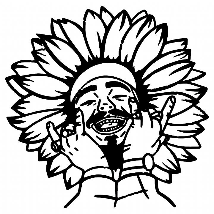 Post Malone Face Tattoo Svg