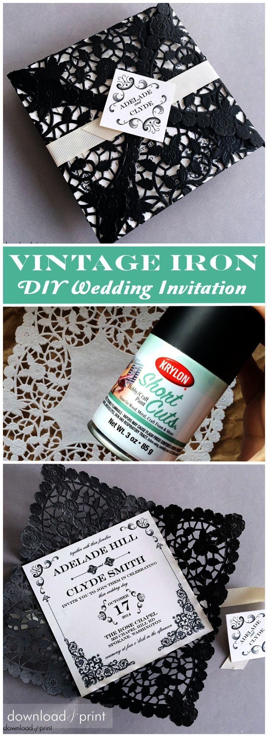 Wedding ideas diy vintage iron wedding invitation wedding
