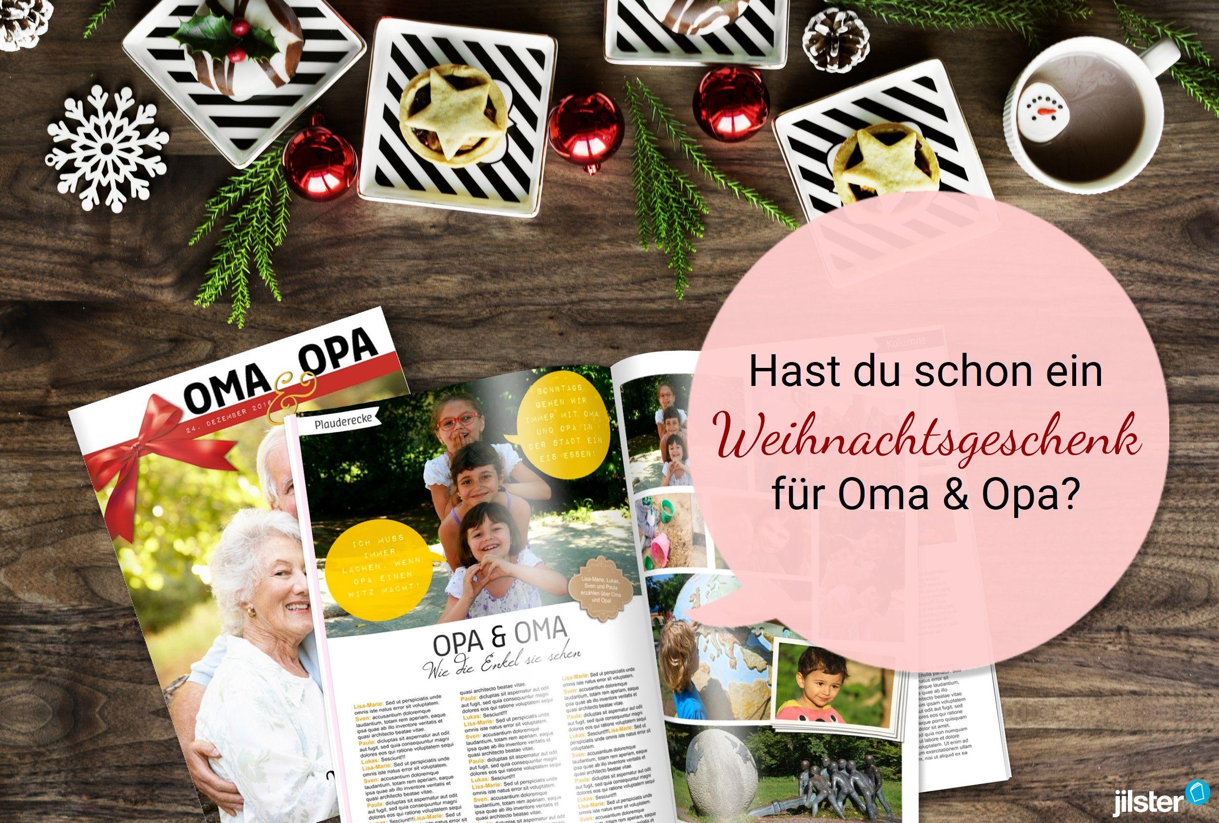 Hast du dir schon ein Geschenk für Oma & Opa überlegt? Gestalte für ...