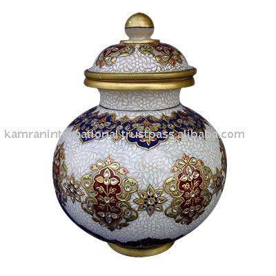 decorative pottery | Marble pot, decorative pot, herb pots, storage containers,