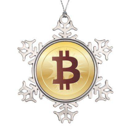 Bitcoin Logo Symbol Crypto Coin Christmas Ornament Bitcoin Logo