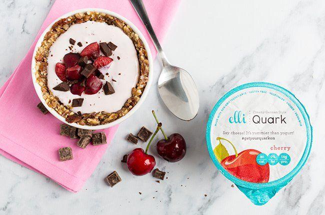 Elli Quark No Bake Cherry Garcia Cheesecake