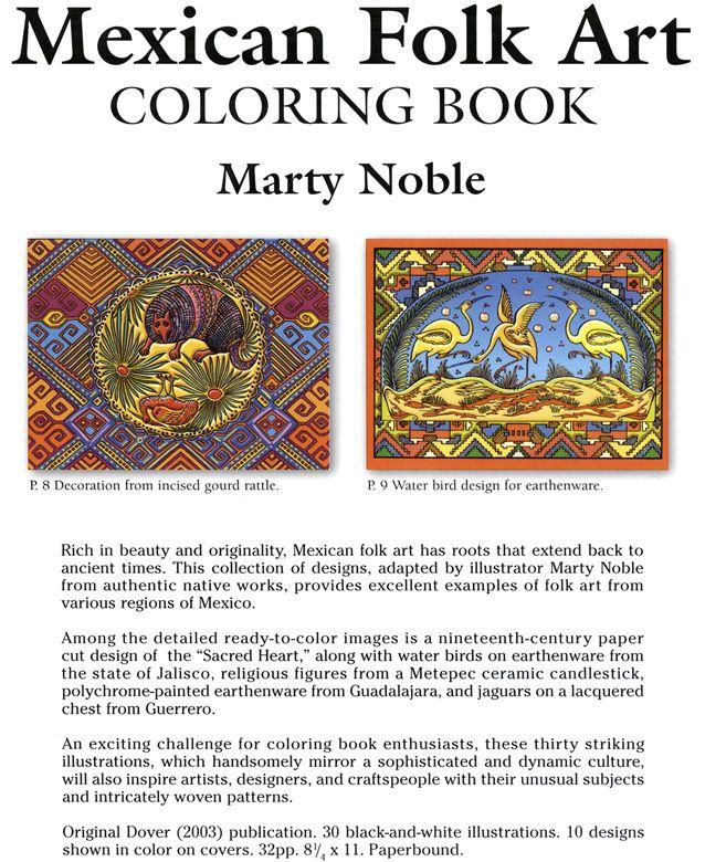 mexican folk art coloring bookdover design coloring books