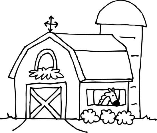 Cute Barn Coloring Page Free Clip Art Animal Coloring Pages Cartoon Coloring Pages Coloring Pages