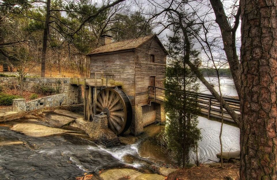 Marble Water Wheels : Old grist mill stone mountain park ga beautiful