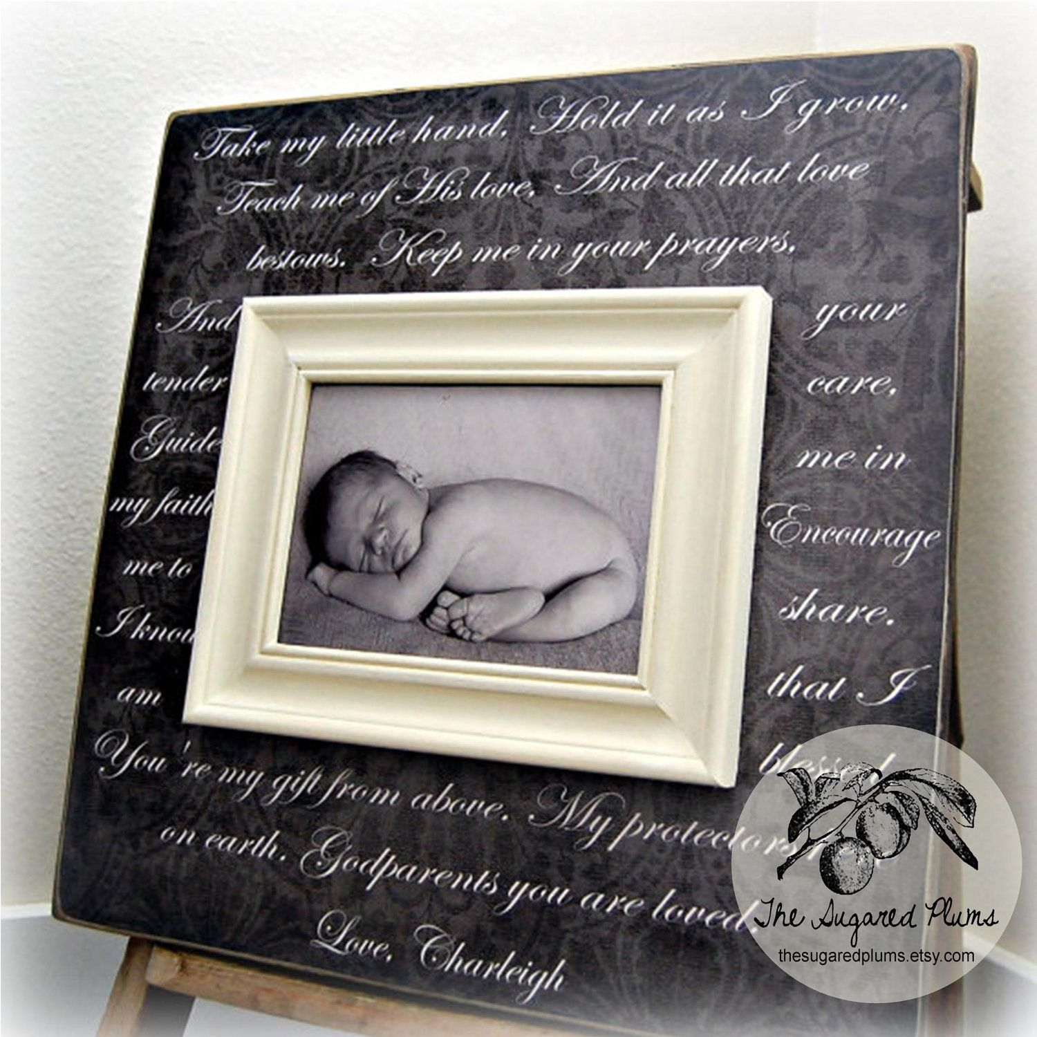 GODPARENTS GIFT Baby Baptism Gifts Christening Ideas Godparent