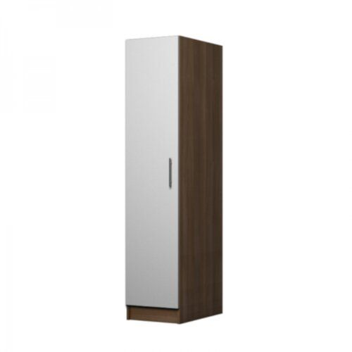 Marcano 1 Door Corner Wardrobe 17 Stories Colour Walnut White Corner Wardrobe Mirrored Wardrobe 3 Door Sliding Wardrobe