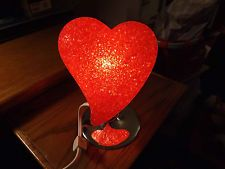 Red Heart blow mold lamp