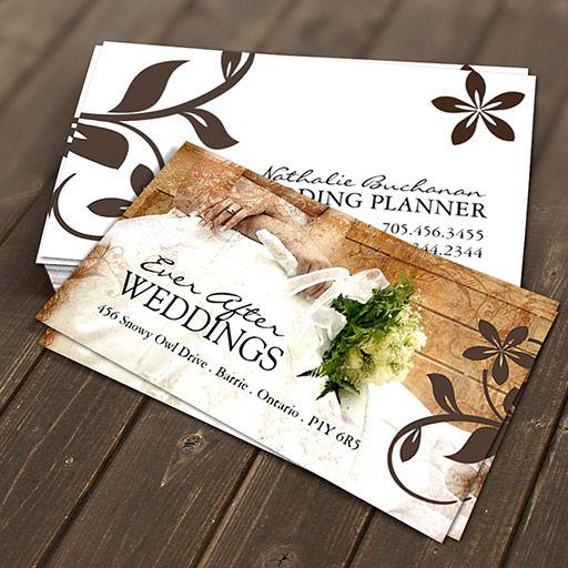 Customizable Wedding Planner Business Card Wedding Theme