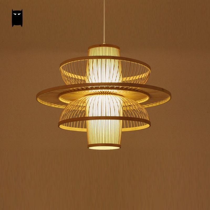 Pas Cher Bambou En Osier Rotin Danseur Abat Jour Pendentif Luminaire Asiatique Japonais Art Deco Suspendu Plafond L Luminaire Luminaire En Rotin Lampe Art Deco