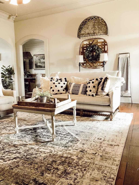 32 awesome rug living room farmhouse decor ideas in 2020
