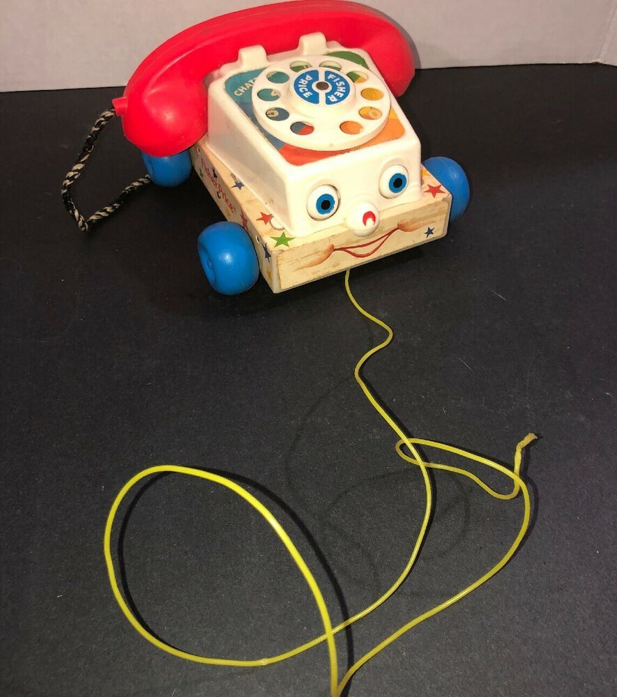 1985 Fisher Price Classic Chatter Phone Rotary Pull Along