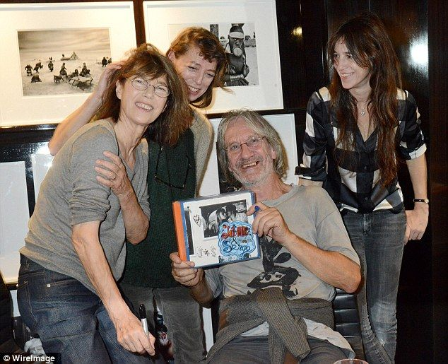 JAne Birkin, Kate Barry, Andrew Birkin and Charlotte Gainsbourg, The family  united in October to sign a book about Jane Birkin, left, and her lover  Serge ...