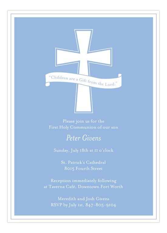 Blue Cross Banner Invitation Blue cross Communion and Christening