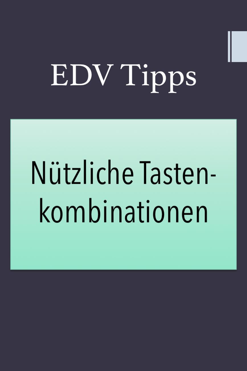 EDV Tipps