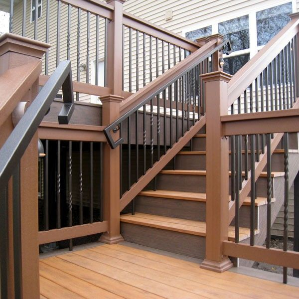 Best Fe26 Square Handrail By Fortress Antique Bronze Deck 400 x 300
