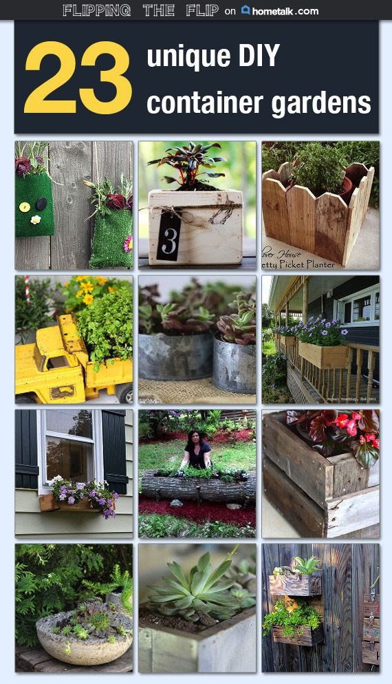 23 Unique Diy Container Gardens Idea Box By Becky At Flipping The