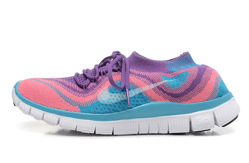 finest selection cd23c 65275 Nike Free Flyknit 5.0 Photo Blue Atomic Pink Club Purple Off White