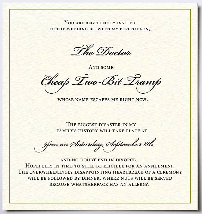 Wedding Invitation From A Jewish Mother Funny Wedding Invitations Wedding Humor Classy Wedding Invitations