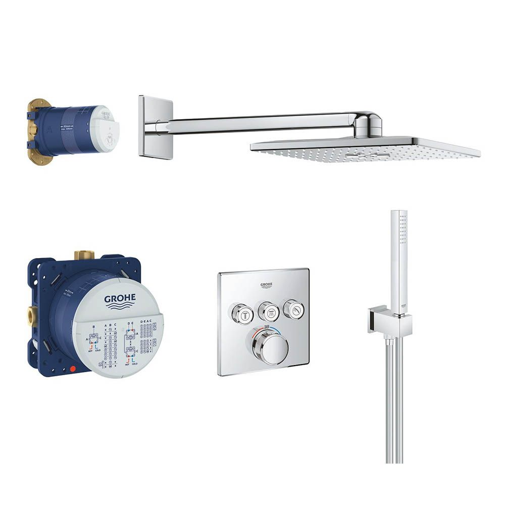 Grohe Grohtherm Smartcontrol Square Perfect Shower Set With