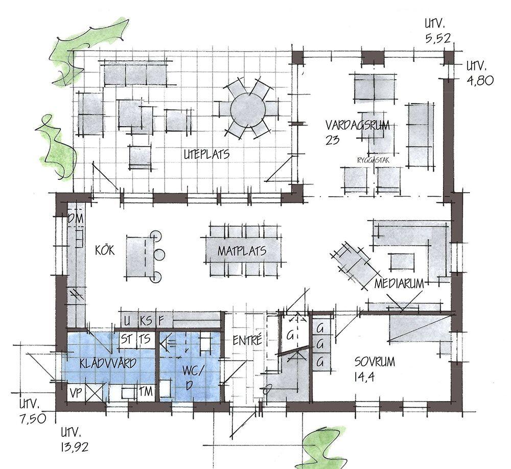 B184 - 1 1/2-planshus - Fiskarhedenvillan