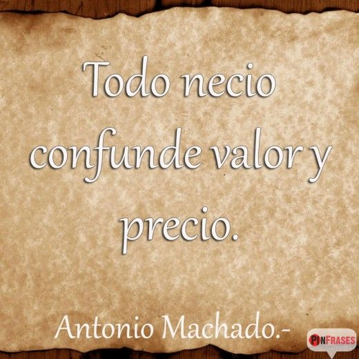 Frase para aniversario de Antonio Machado