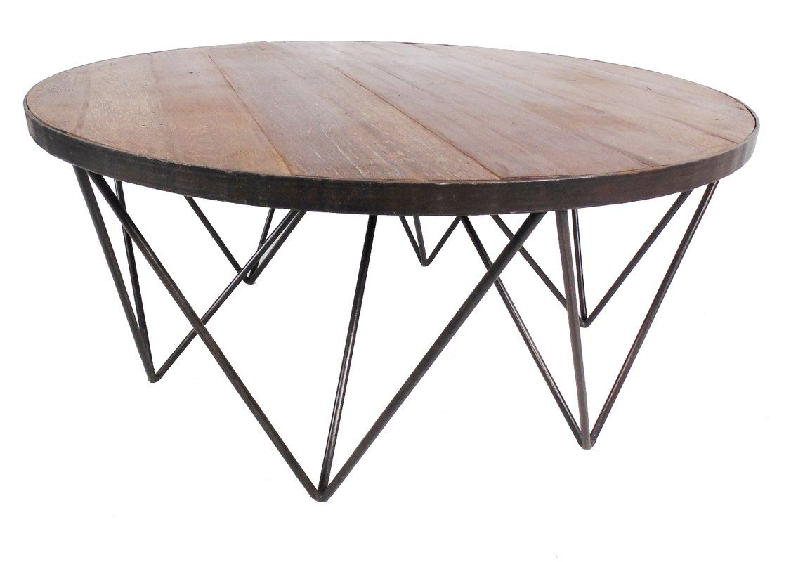 Kaden Coffee Table In 2019 Round Coffee Table Modern Round Wood
