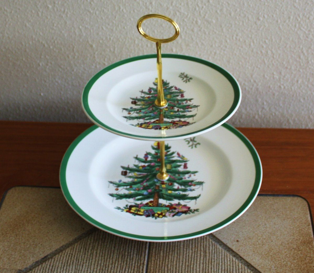 2 Tier Cake Cupcake Spode Christmas Tree Plate Stand Tidbit Tea Party Display Server Elegant Events 27 0 Spode Christmas Spode Christmas Tree Christmas China