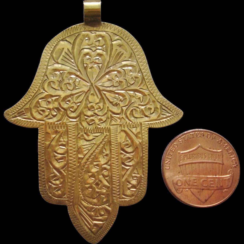 Rare antique 20k gold moroccan hamsa hand of god pendant hamsa rare antique 20k gold moroccan hamsa hand of god pendant aloadofball Choice Image