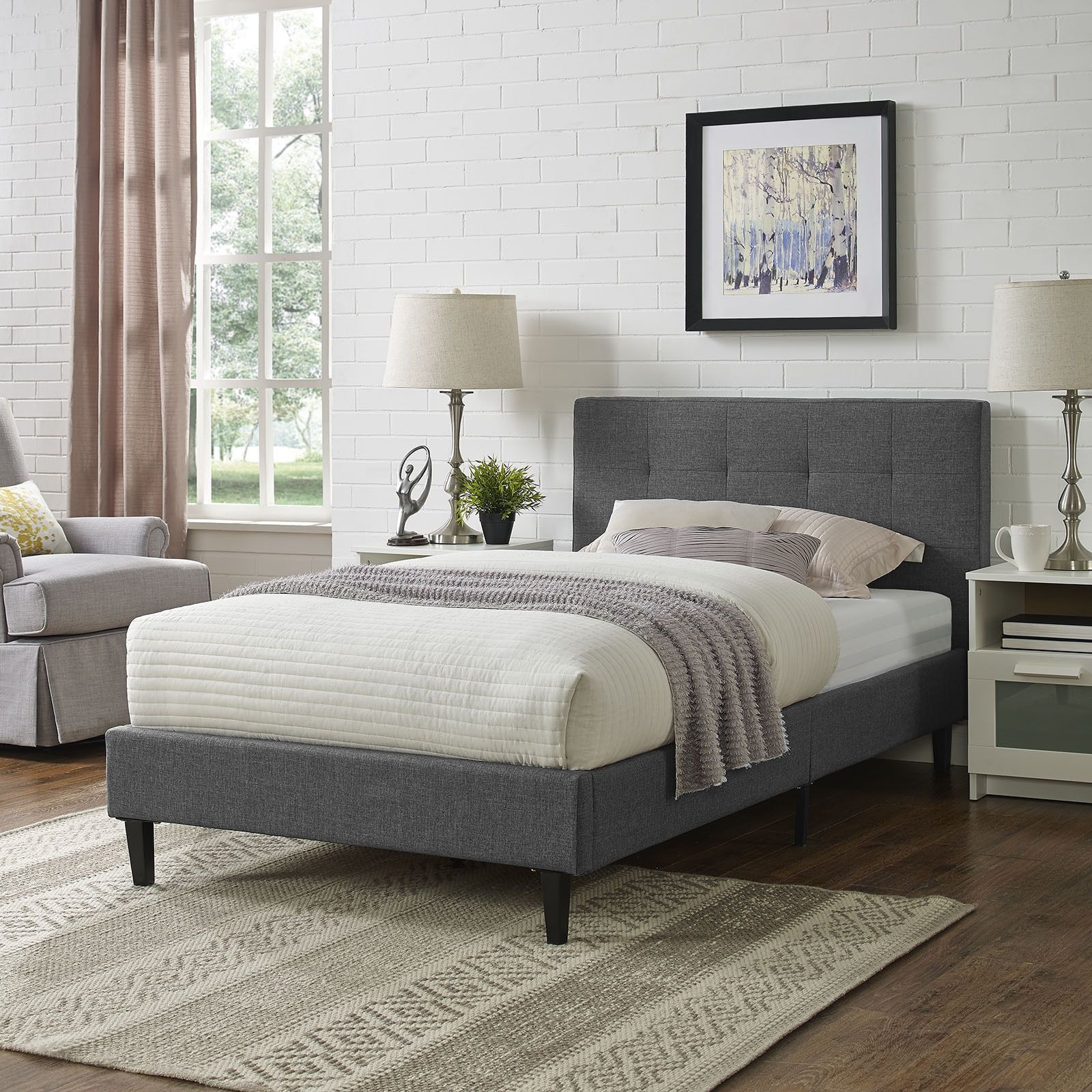 Pin By Carina Teed On Graces Room In 2019: Linnea Bed Frame (Azure), Kids Unisex, Blue, Modway