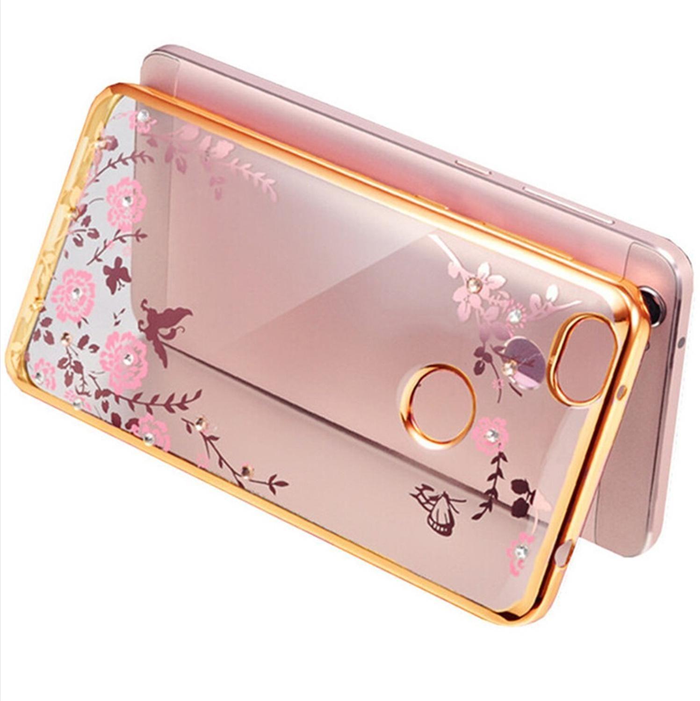 Flora Diamond Case For Xiaomi Mi Max Redmi Note 3 2 Pro Flower Bling Lg L80 Dual D380 Black Free Soft Tpu Clear Phone Back Cover Mi5 4 4c