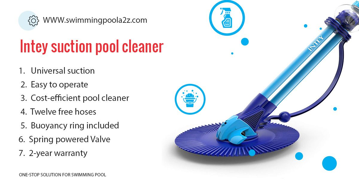 Intey Pool Cleaner Automatic Suction Pool Vacuum Pool Cleaning Cleaners Robotic Pool Cleaner