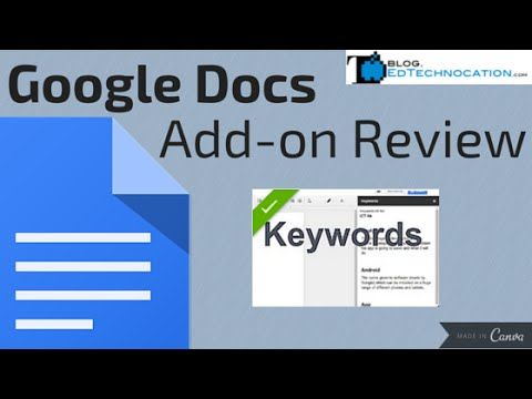 EdTechnocation Google Docs Addon Review Keywords (With