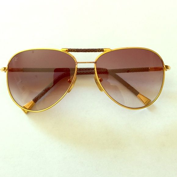 5c890ae6f7 Louis Vuitton Aviator Sunglasses Authentic Louis Vuitton Conspiration  Pilote canvas sunglasses. Bought these originally a