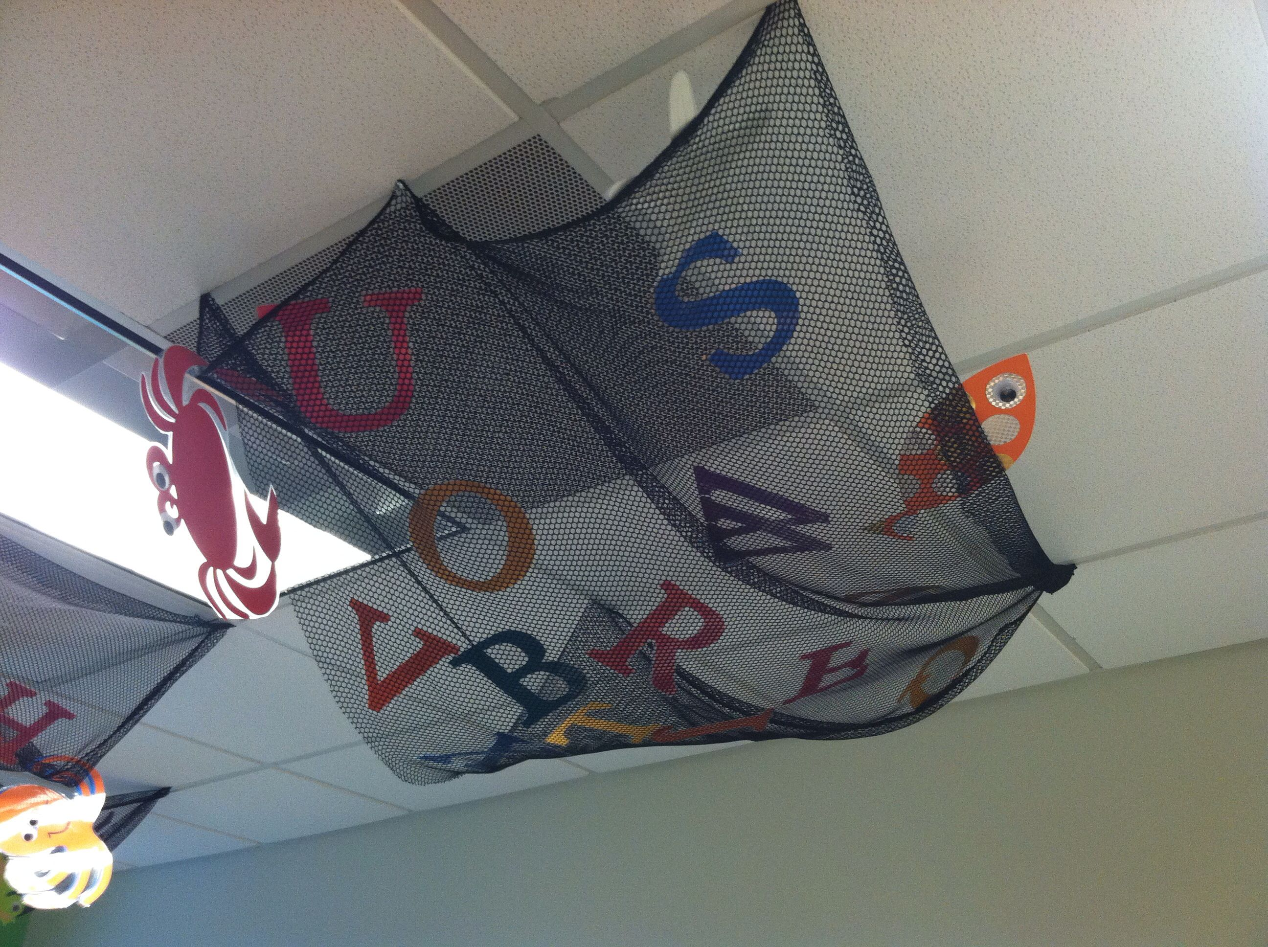 Pirate Or Ocean Themed Classroom Hung Fishing Net From